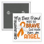 Angel 2 Best Friend (Male) Leukemia Pinback Button