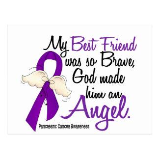 Angel 2 Best Friend (Male) Pancreatic Cancer Postcard