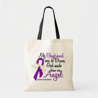 Angel 2 Boyfriend Pancreatic Cancer Tote Bags