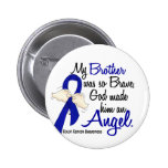 Angel 2 Brother Colon Cancer 2 Inch Round Button