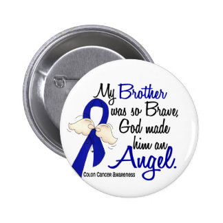 Angel 2 Brother Colon Cancer Pinback Button