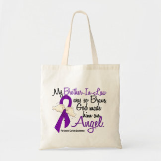 Angel 2 Brother-In-Law Pancreatic Cancer Tote Bags