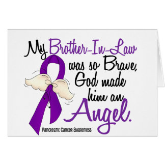 Angel 2 Brother-In-Law Pancreatic Cancer Greeting Card