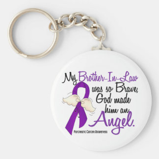 Angel 2 Brother-In-Law Pancreatic Cancer Keychain