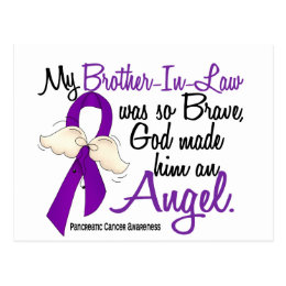 Angel 2 Brother-In-Law Pancreatic Cancer Postcard