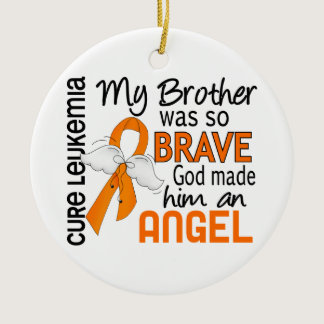 Angel 2 Brother Leukemia Ceramic Ornament