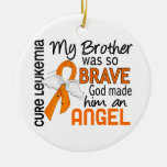 Angel 2 Brother Leukemia Double-Sided Ceramic Round Christmas Ornament
