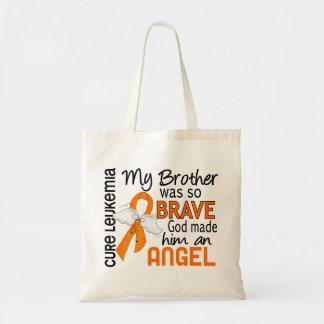 Angel 2 Brother Leukemia Tote Bag