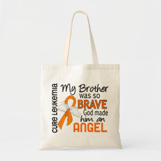Angel 2 Brother Leukemia Tote Bag