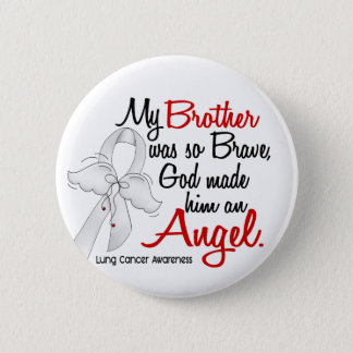 Angel 2 Brother Lung Cancer Pinback Button
