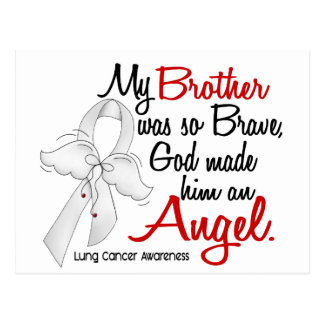 Angel 2 Brother Lung Cancer Postcard