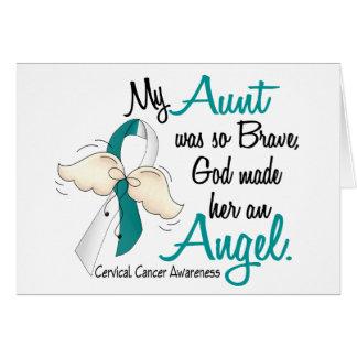 Angel 2 Cervical Cancer Aunt Greeting Card