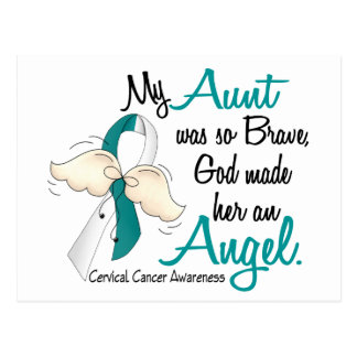 Angel 2 Cervical Cancer Aunt Postcard