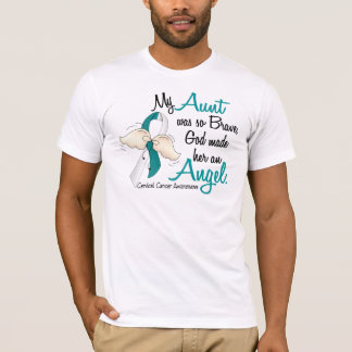 Angel 2 Cervical Cancer Aunt T-Shirt
