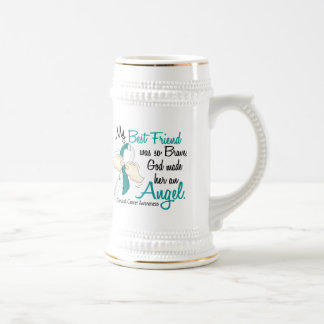Angel 2 Cervical Cancer Best Friend Beer Stein