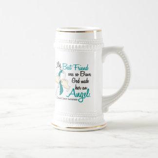 Angel 2 Cervical Cancer Best Friend Beer Stein
