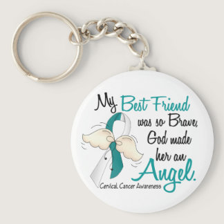 Angel 2 Cervical Cancer Best Friend Keychain
