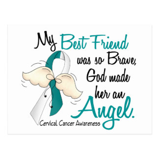Angel 2 Cervical Cancer Best Friend Postcard