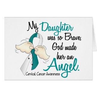 Angel 2 Cervical Cancer Daughter Greeting Card