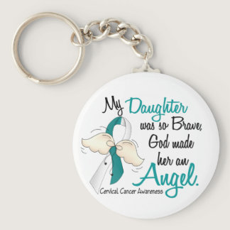 Angel 2 Cervical Cancer Daughter Keychain