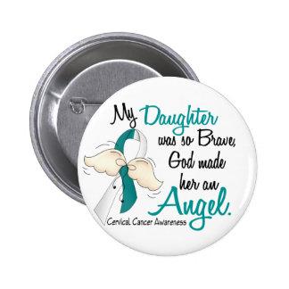 Angel 2 Cervical Cancer Daughter Pinback Button