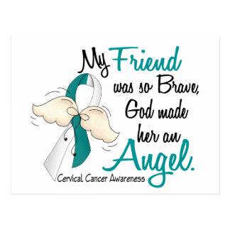 Angel 2 Cervical Cancer Friend Postcard