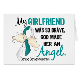 Angel 2 Cervical Cancer Girlfriend Greeting Card