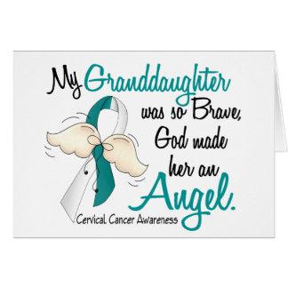 Angel 2 Cervical Cancer Granddaughter Greeting Card