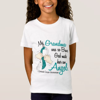Angel 2 Cervical Cancer Grandma T-Shirt