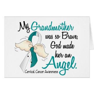 Angel 2 Cervical Cancer Grandmother Greeting Card