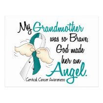 Angel 2 Cervical Cancer Grandmother Postcard