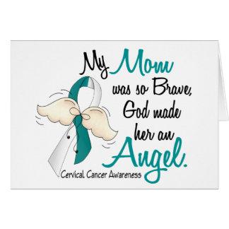Angel 2 Cervical Cancer Mom Greeting Card
