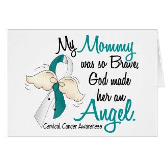 Angel 2 Cervical Cancer Mommy Greeting Card