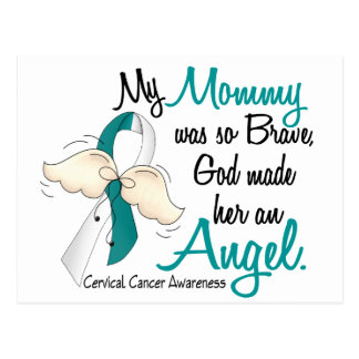 Angel 2 Cervical Cancer Mommy Postcard