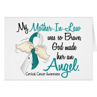 Angel 2 Cervical Cancer Mother-In-Law Greeting Card