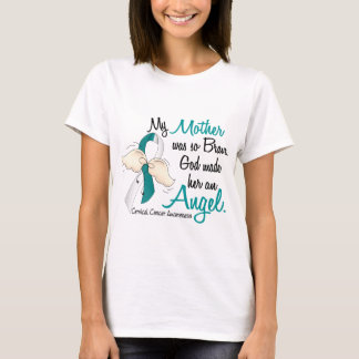 Angel 2 Cervical Cancer Mother T-Shirt