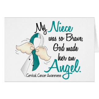 Angel 2 Cervical Cancer Niece Greeting Card