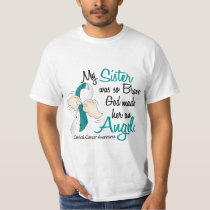 Angel 2 Cervical Cancer Sister T-Shirt