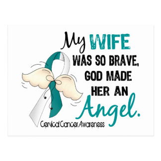 Angel 2 Cervical Cancer Wife Postcard