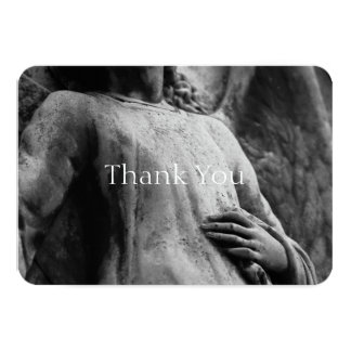 Angel 2 Christian Memorial Sympathy Thank You Card