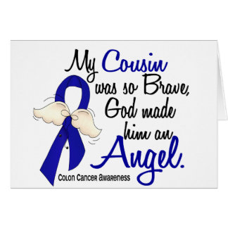 Angel 2 Cousin Colon Cancer Greeting Cards