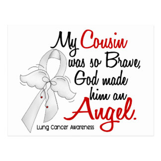 Angel 2 Cousin Lung Cancer Postcard