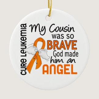 Angel 2 Cousin (Male) Leukemia Ceramic Ornament
