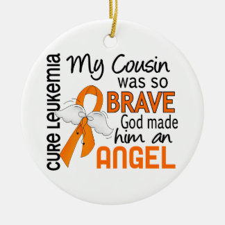 Angel 2 Cousin (Male) Leukemia Christmas Tree Ornaments