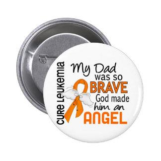 Angel 2 Dad Leukemia 2 Inch Round Button
