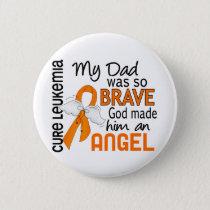 Angel 2 Dad Leukemia Button