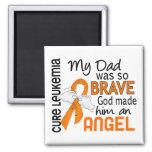 Angel 2 Dad Leukemia Fridge Magnet