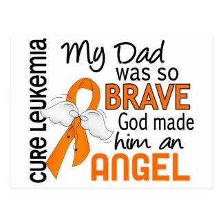 Angel 2 Dad Leukemia Postcard