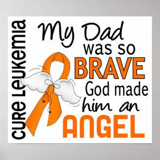 Angel 2 Dad Leukemia Print