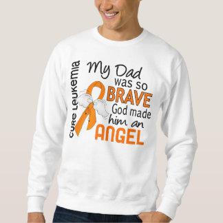 Angel 2 Dad Leukemia Sweatshirt
